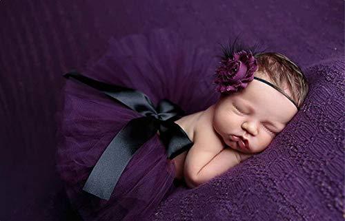 Vemos Neugeborene Baby Säugling Rock Tutu Kleidung fotoshooting Bekleidung Prop Fotos Kostüm Foto Prop Outfits Blume Stirnband Set Geschenk Säugling, - Einzigartige Säuglings Kleinkind Kostüm