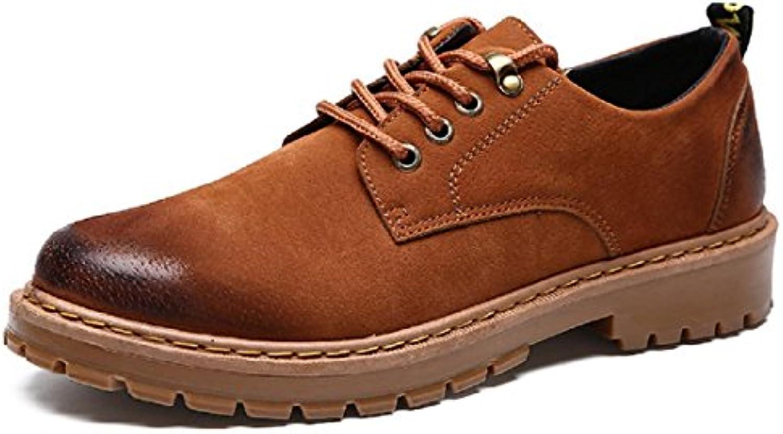 Mann Herbst Winter Dicker Boden Freizeit Lederschuhe Schuhe erhöhen Modus Flache Schuhe Freizeitschuhe EUR SIZE