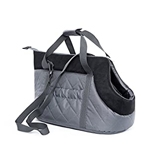 HOBBYDOG Gate GZC6Carrier Carrying Bag Cat Carrier Size 22x 20x 36cm, Grey/Black 417OIWZVGuL