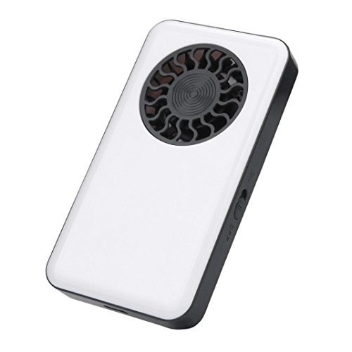 Bescita Miniventilator Handventilator Portable Handheld USB Mini Klimaanlage Kühler Lüfter mit Wiederaufladbare Akku (Weiß)