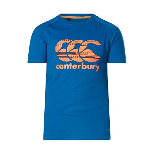 Canterbury Boys Vapodri Logo T-Shirt, Snorkel Blue, Size 12