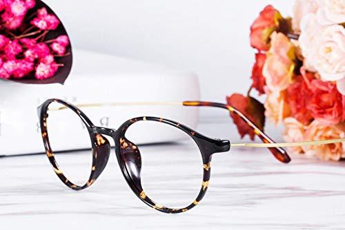 ZJEXJJ Memory Anti-Blue Strahlung HD presbyopic Brille weibliche Bequeme Elegante Brille (1,0-4,0) (Farbe : Brown, größe : 3.0)