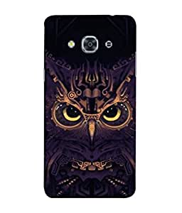 PrintVisa Designer Back Case Cover for Samsung Galaxy J3 Pro :: Samsung Galaxy J3 (2017) (uniqe Hitec Owl with Sharp Nose)