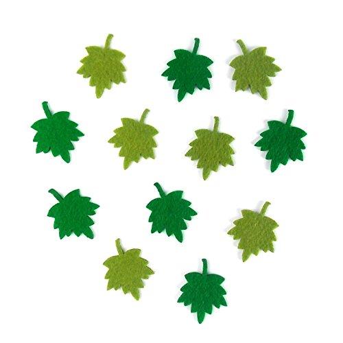 Bastelfilz Figuren Set – Kleine Blätter 2. – Filz, Textilfilz, Streudeko