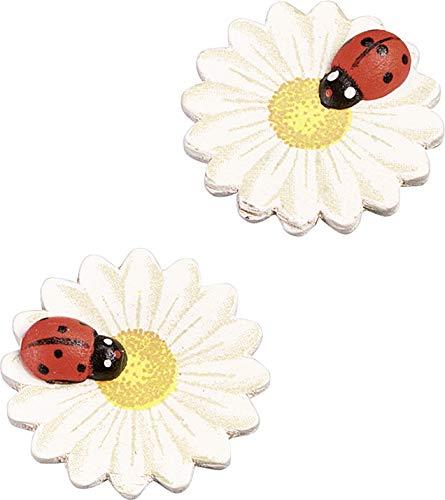 Gütermann / KnorrPrandell 8002460 - Flor de Madera con Arena Ladybug 3 cm, 8 Piezas / Bolsa Importado de Alemania