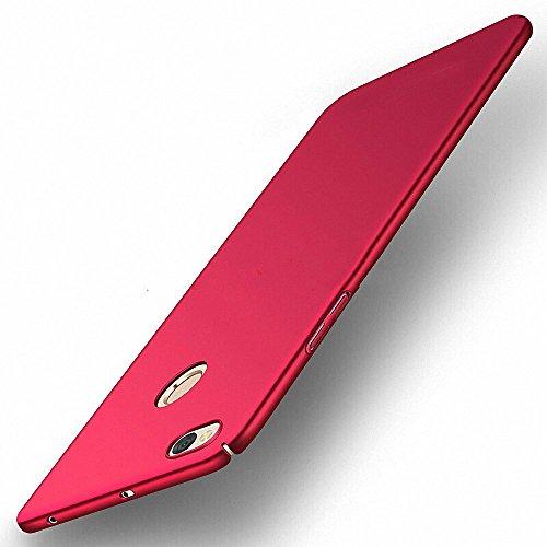 NAVT Xiaomi Redmi Note 5A Funda,Ultrafino Estructura completamente rodeada la estructura de superficie mate Durable PC Protector teléfono funda para Xiaomi Redmi Note 5A Smartphone (rojo)