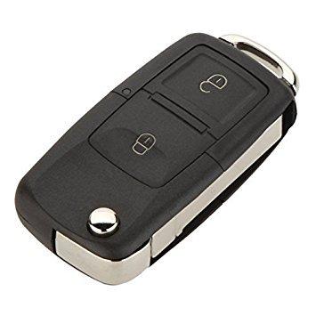 Ersatz 2 Tasten schluessellos Zugang Remote Flip klappbar Auto Schluessel Schluesselanhaenger Huelle Schale und Tastenfeld Kompatibel mit VW Volkswagen Golf 4 Bora -
