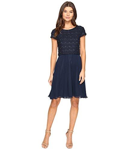 Tahari ASL Damen Kleid Daisy, Blau-Blau (Marineblau), 38 - Tahari Von Asl