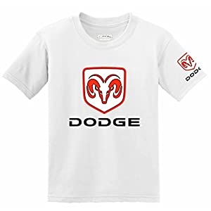 Dodge Logo with Sleeve T-shirt, Medium White