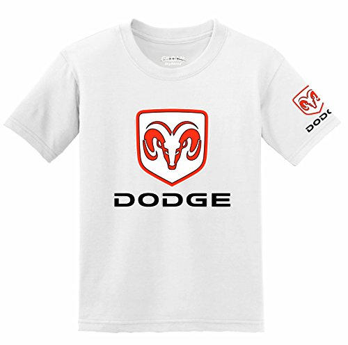 Dodge Logo with Sleeve T-Shirt, XXX-Large White (Chevy-hoodie Camo)