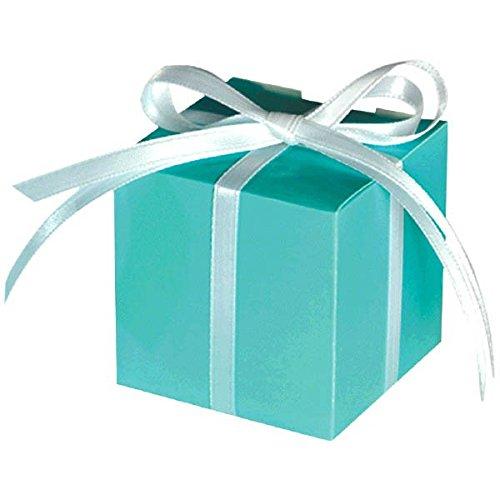 Amscan scatola per confetti, 100 pezzi, ideale per matrimoni e feste foglia di tè
