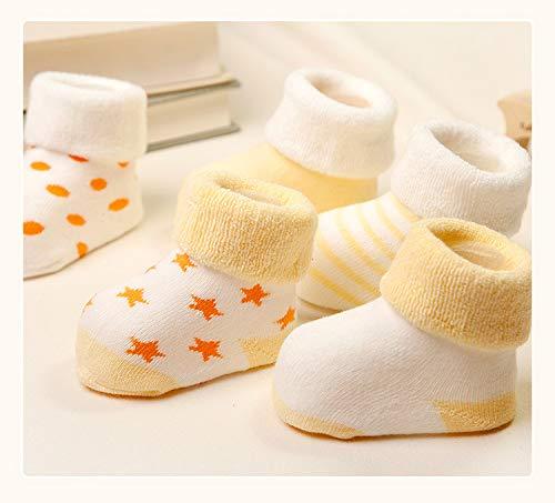 Z-Chen Pack de 5 Pares de Calcetines Bebé Niño Niña Algodón 2