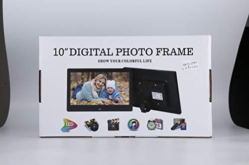 Multifunktionale digitalen Bilderrahmen mit vollem Funktionsumfang Wireless Remote 10-Zoll-LCD-Schirm-Anzeige Eingebauter Lautsprecher