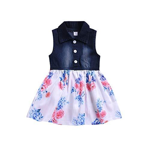 kleidung Baby-Mädchen Prinzessin Kleid Festzug Taufkleid Hochzeit Partykleid Mädchen Tüll Kleidung Blumenmädchenkleid mit Baumwollhose ()