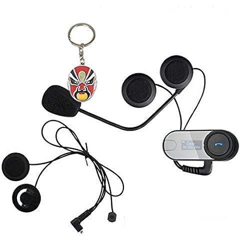 Boblov TCOM-SC W / Pantalla de intercomunicación Bluetooth intercomunicador del casco de la motocicleta 800M intercomunicador del casco de auriculares (Tcom-sc+Solf