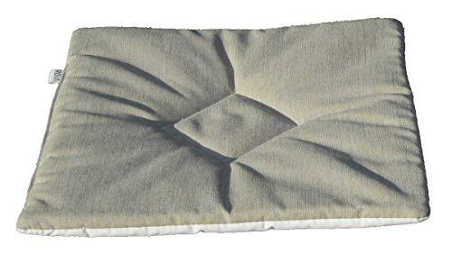 RD ITALIA Coussin Aimant 37 x 40 pour chaises d'extérieur en Tissu Lavable Double Face Blanc/chiné