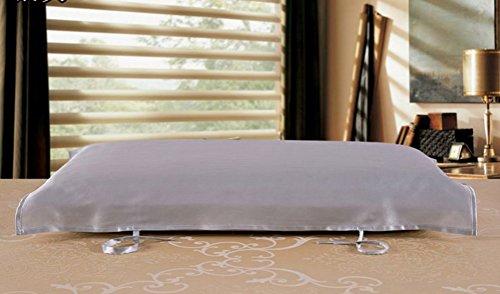 Eazyhurry 100% seta di gelso cuscino asciugamano colore solido rettangolo decorativo copertura del cuscino 73,7x 51,8cm Light Purple Silver Gray