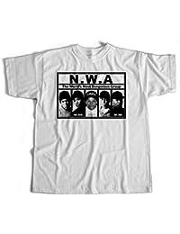 T-Shirt NWA 2 'Raiders' Hip Hop, Public Enemy, Ice Cube, Rap, DRE Kult Eazy E