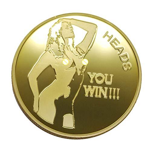 perfk 1 Stück Münze romantische erwachsene Spiel-Münze für Künste, Sammlung, Geschenke, Gedenken * - f