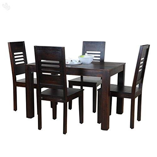 Royal Oak Jade 4 Seater Dining Table Set (Honey Finish, Brown)
