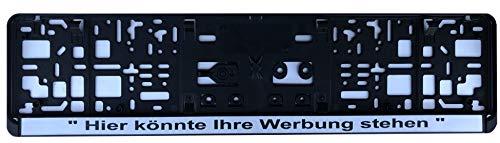 Kennzeichenhalterung Pro Paar, Schriftzug auf Wunsch per Lasertechnik, Design geschliffene Aluminiumoptik