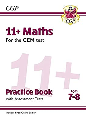New 11+ CEM Maths Practice Book & Assessment Tests - Ages 7-8 (with Online Edition) (CGP 11+ CEM) from Coordination Group Publications Ltd (CGP)
