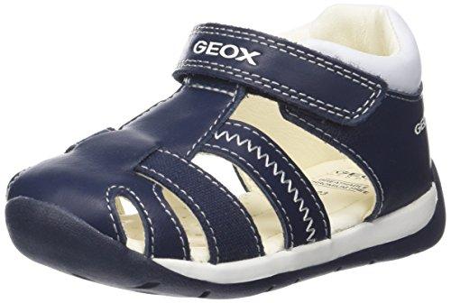 Geox B Each D, Sandales Bout Ouvert bébé garçon, Bleu (Navy), 22 EU