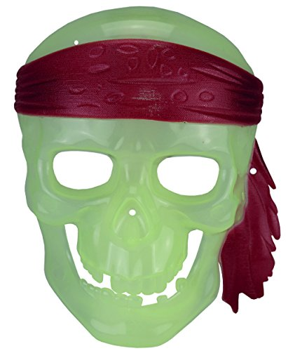 (Unbekannt Kostüm P00112 - Totenkopf-Piratenmaske Glow in The Dark)