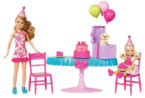Mattel W3210 - Barbies Schwestern Geburtstagsparty, inkl. Chelsea und Stacie, Puppen und Zubehör (Barbie Geburtstagsparty)
