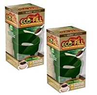 Eco-Fill Reusable Coffee Filter for Cusinart/Breville/Keurig Single Serve K-Cup Coffee Brewers- 2 Pack