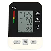 LL-Monitor de presión arterial de brazo, Comprobador de presión arterial alta con almacenamiento de memoria, Modo de 2 usuarios, Brazalete de presión arterial digital Mida automáticamente pulso Diastólico sistólico