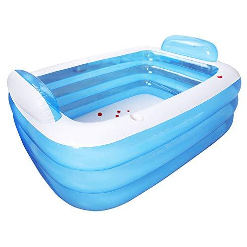 HCX Kinder Aufblasbare Doppelte Menschen Badewanne Umweltschutz PVC Verdickung Isolierung Erwachsene Faltwannenbadewanne Bad Bad Barrel,180 * 140 * 60cm