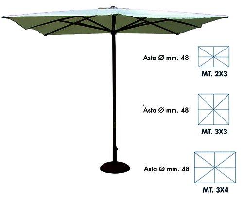 Vette cdf00892 ombrellone, rettangolare, legno, beige