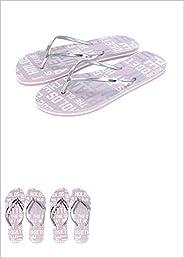 Miniso Women's Letter Series Flip Flops L 39/40 694150151