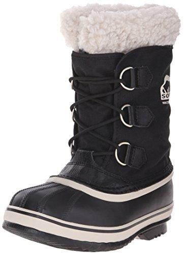 Sorel YOOT PAC NYLON - Stivaletti da neve a gamba corta, imbottitura pesante per bambini, nero (black 010), 38