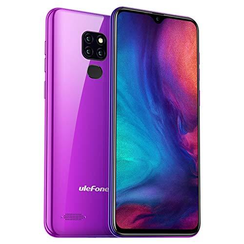 4G Smartphone Android 9 Pie, 32GB Speicher + 3GB RAM, Ulefone Note 7P (2019) Handys Günstig, DREI KameraTriple Slot Dual SIM Global LTE, 6,1 Zoll Tautropfen Fingerprint + Face Unlock, Twilight