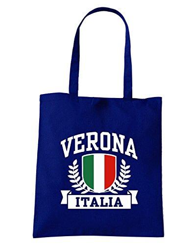 T-Shirtshock - Borsa Shopping TSTEM0128 verona italia Blu Navy