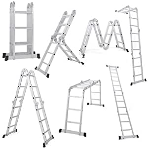 EQUAL Foldable Multipurpose Aluminium Super Ladder for Home and Industrial Purpose (12 Feet)
