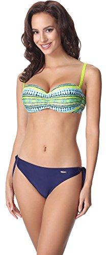 aQuarilla Bikini Set per Donna AQ123 Multicolore/Nevy Blu