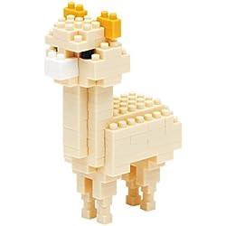 Nanoblock NBC-079 - Juego de construcción Alpaca, Serie Mini Colección, Nivel de dificultad 2, Beige, 110 piezas