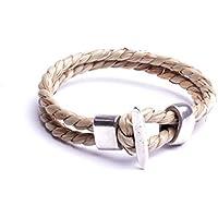 Bracelets écologique hommes torsade jonc naturel fabrication artisanale à la main atelier by mode France.