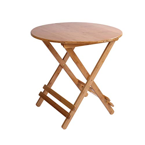 GY Tragbares TV-Fach, Snack Klapptisch, Multifunktion Laptop-Tablett-Tisch Schreibtisch, Runder Beistelltisch, Zuhause Im Freien Und Drinnen Kleiner Tisch (3 Größen) (Tv-fach Runde Tisch)