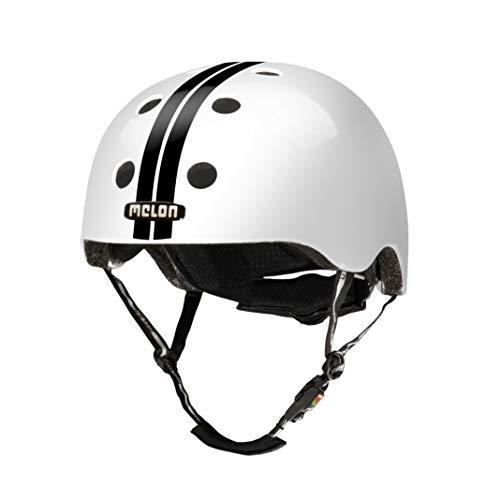 MELON Leichter Unisex Helm für Erwachsene und Kinder, Größe XL-XXL, Weiß/Schwarz, Urban Active
