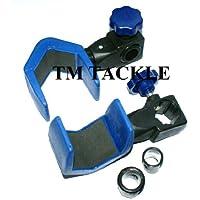 TM TACKLE - Abrazadera para soporte de caña de pescar (apto para soportes cuadrados, redondos y de varios apoyos)