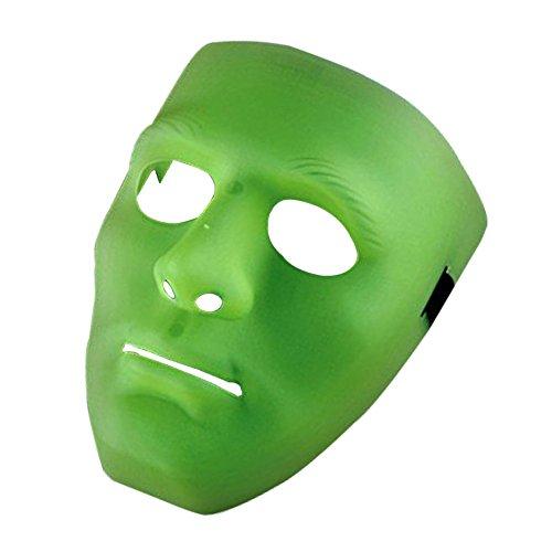 Dance Kostüm Jabbawockeez - Bello Luna Hip-Hop-Tanzmaske Cosplay Maske für Halloween Maskerade Party - Hellgrün