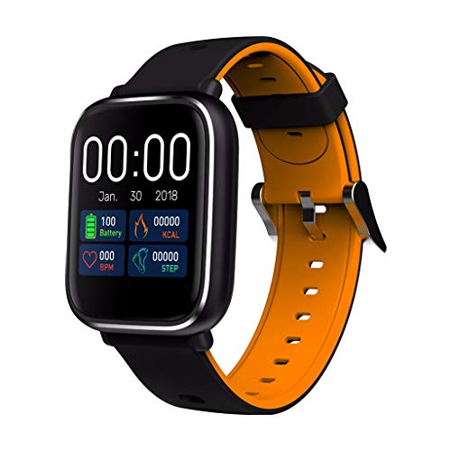 Happysdh Fitness Armband mit Blutdruckmessung,Smartwatch Fitness Tracker mit Pulsmesser Wasserdicht IP67 Fitness Uhr Blutdruck Messgeräte Pulsuhr Schrittzähler Uhr für Damen Anruf SMS SNS Beachten