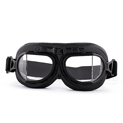 Price comparison product image Nawenson Pilot Flying Motorcycle Goggles Scooter Biker Motocross Anti Dust UV Wind Eye Protect Helmet Goggl (Clear)