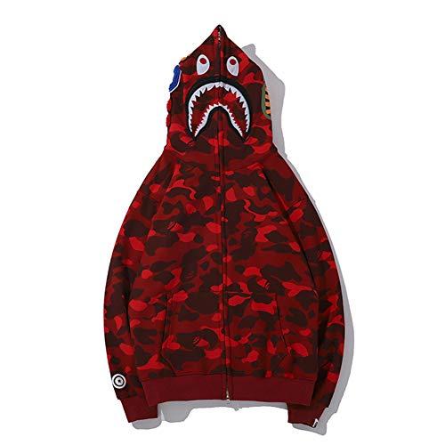 ZDFGHW434 Bape Shark Hoodie Bape Shark Street Camouflage Sweater Sweater Hoodie Cardigan Boys Girls Men Women
