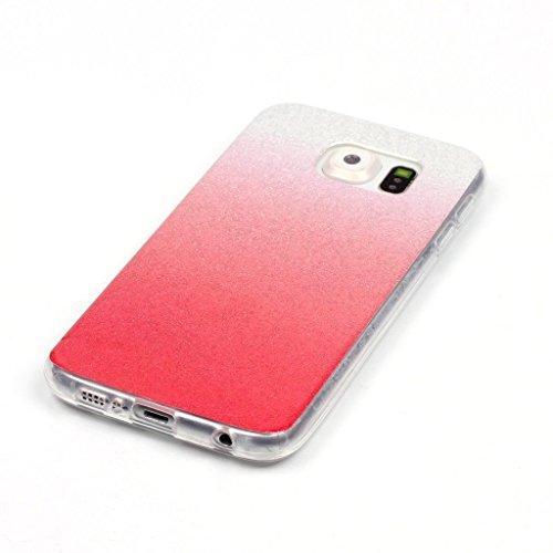 Uming® Copertura di caso della TPU colorful soft modello della stampa Case Cover ( Gradient (Gold) - per IPhone 5C IPhone5C ) Sacchetto di caso della copertura della protezione del silicone del telefo Gradient (light red)