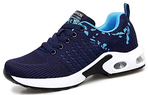 Sneakers Zeppa Donna Scarpe da Ginnastica Basse Corsa Sportive Fitness Running Mesh Air Scarpe Estive Primavera Casual All'Aperto Gym EU41/Etichetta 42